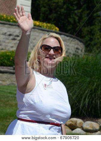 Michigan State Senator Rebekah Warren At The Ypsilanti, Mi 4Th Of July Parade