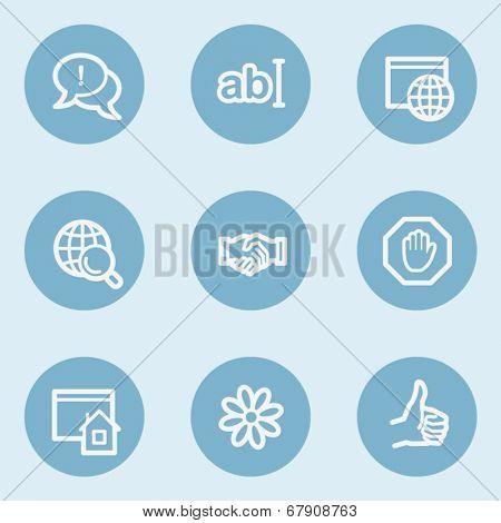 Internet  web icon set 1,  blue buttons