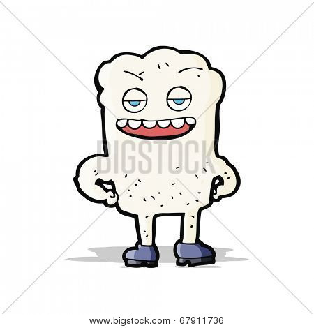cartoon tooth looking smug