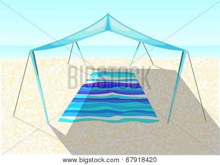 Beach Tent On A Sand