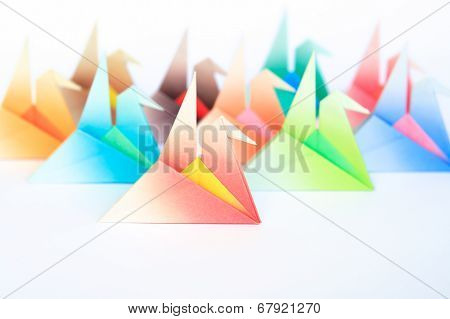 Colourful Origami Birds