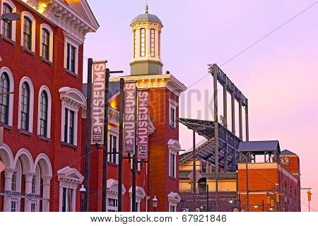 Baltimore USA - January 31 2014: The Sports Legends Museum at Camden Yards