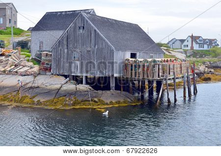Typical fisherman shack