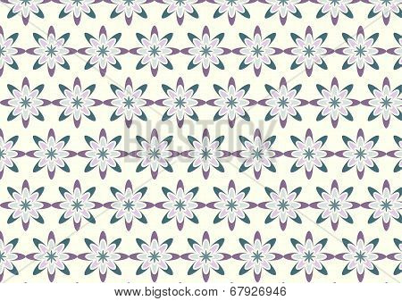 Abstract Purple Bloom Pattern In Boomerang Shape On Pastel Color