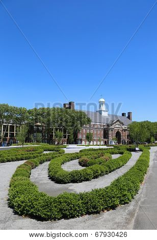 Liggett Hall on Governors Island in New York Harbor