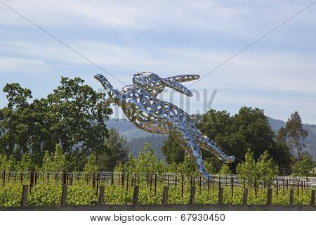 Bunny Foo Foo sculpture at the Hall Winery in Napa Valley