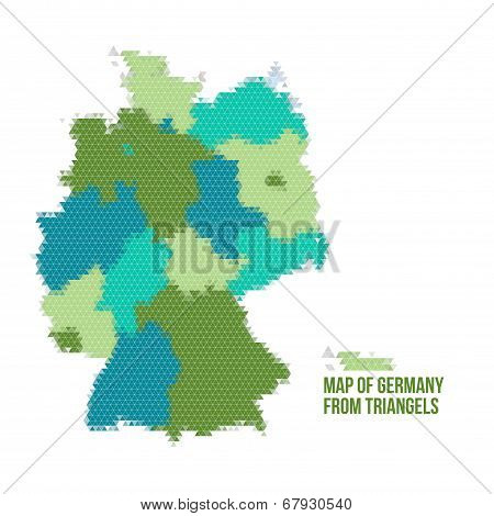 Map Of Germany From Triangels