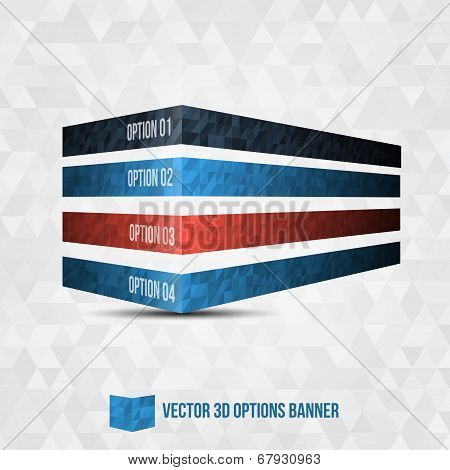 Vector 3D Option Banner