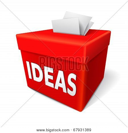 Ideas Word On The Red Collection Box