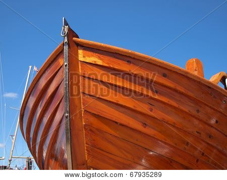 Prow Of A Wooden Boat