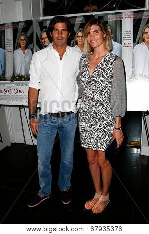 EAST HAMPTON, NEW YORK-JULY 6: Argentine polo player Nacho Figueras and wife Delfina Blaquier attend the premiere of