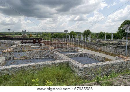 Archaeological complex Abritus in present town Razgrad, Bulgaria, Europe.