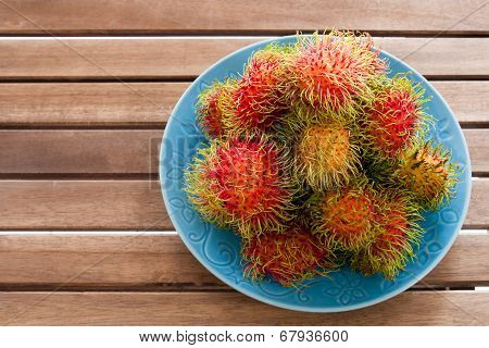 Rambutan Top View