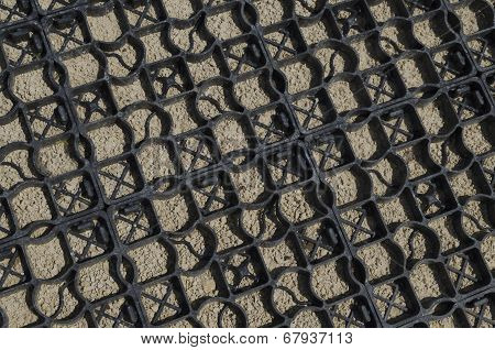 Background from surface of the plastic framework and stones