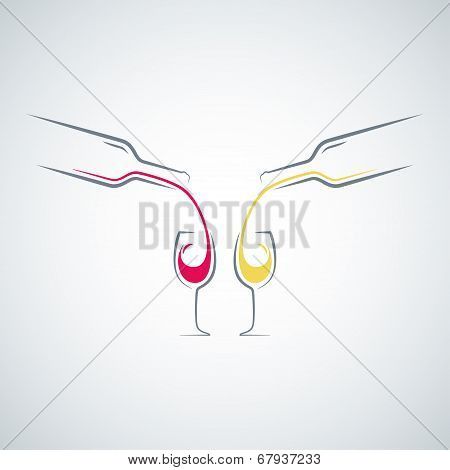 wine glass bottle concept menu background
