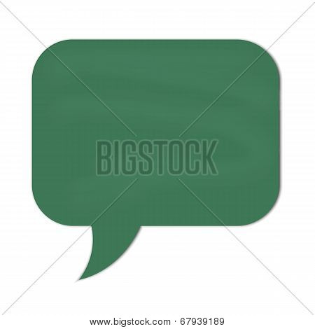 Speech Cloud Green Chalkboard