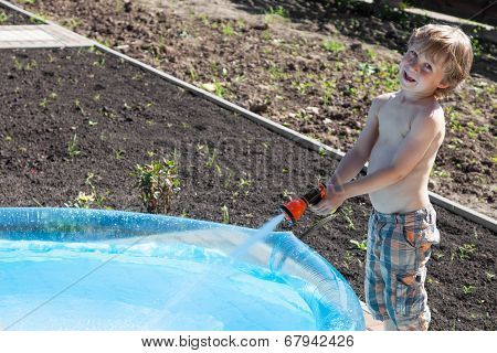 Boy Fills Up With Water