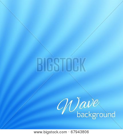 Blue abstract smooth light lines background