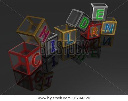 Children - Cube - 3D