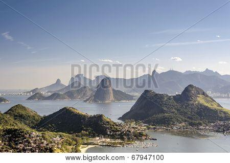 Sea and mountains of Rio de Janeiro
