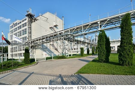 ALEKSEEVKA, BELGOROD REGION, RUSSIA - JUNE 8, 2014: Industrial buildings of PJSC EFKO. EFKO Group is Russia's largest vertically integrated company producing specialised fats