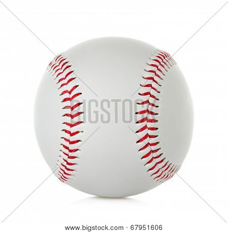 Baseball close-up isolated on white background