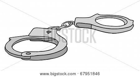 Metal Handcuffs Vector