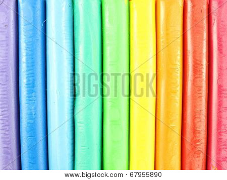 Colorful Clay on a white background