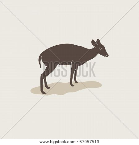 Vector Image Of An Barking Deer