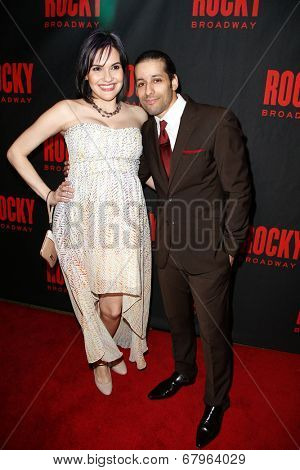 NEW YORK-MAR 13: Actors Denisse Ambert and Luis Salgado attend the 'Rocky' Broadway opening night after party at Roseland Ballroom on March 13, 2014 in New York City.