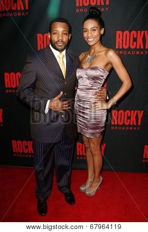 NEW YORK-MAR 13: Actor Wallace Smith and guest attend the 'Rocky' Broadway opening night after party at Roseland Ballroom on March 13, 2014 in New York City.