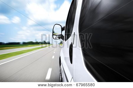 Fast driving on the road