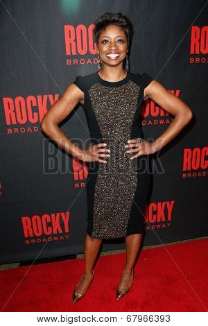 NEW YORK-MAR 13: Stage actress Montego Glover attends the 'Rocky' Broadway opening night after party at Roseland Ballroom on March 13, 2014 in New York City.