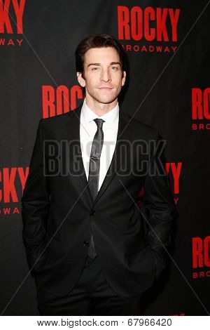 NEW YORK-MAR 13: Actor Andy Karl attends the 'Rocky' Broadway opening night after party at Roseland Ballroom on March 13, 2014 in New York City.