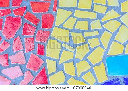 Colorful glass mosaic art