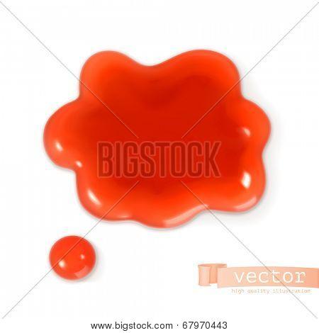 Red sweet drop, vector illustration
