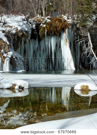 Hanging Lake Winter Reflection
