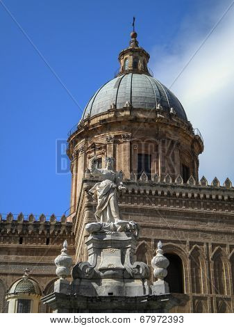 Cathedral Maria Santissima Assuanta of Palermo in Sicily