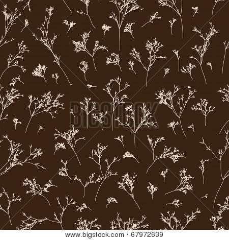 branches seamless pattern