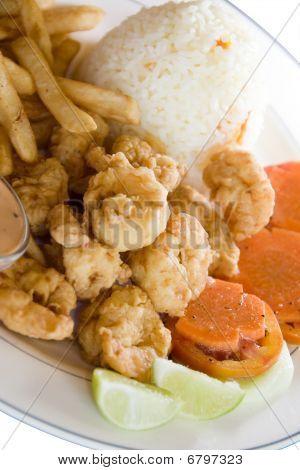 Camaron Empanizado Breaded Friend Shrimp Nicaragua Style