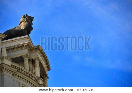 Metallic Sculpture Of Lion