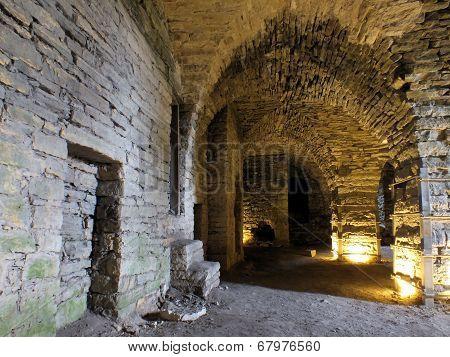 Underground Chamber At Maasilinnus Castle