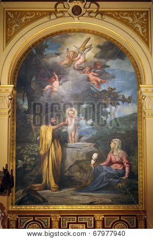 PARIS, FRANCE - NOV 09, 2012: Holy Family, Holy Trinity church is a Catholic church located in the 9th arrondissement. The church of the Second Empire period, built between 1861 and 1867
