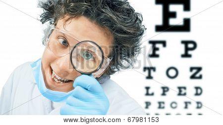 Funny Doctor Optometrist