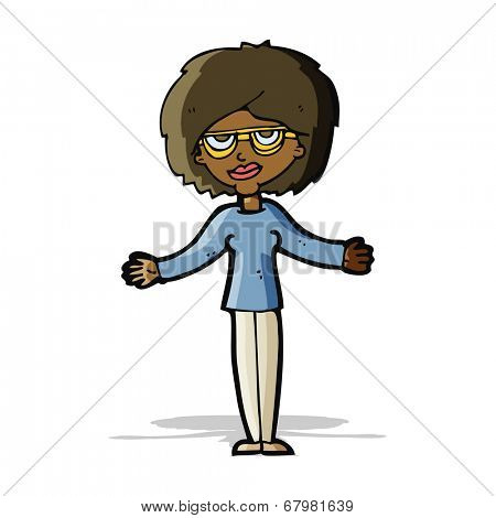 cartoon woman wearing spectacles