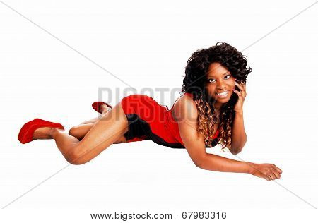Woman Lying On Stomach.