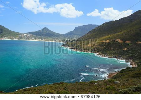 View Of Hout Bay From Chapmans Peak - Cape Town, South Africa.