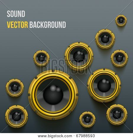 Orange Sound Load Speakers on dark background.