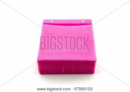Pink Cd Paper Case.