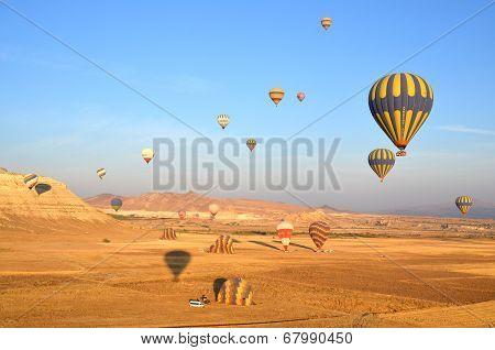 Hot air balloon fly over Cappadocia